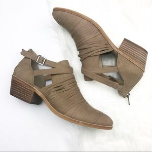 NWOT! Vince Camuto Natural Flat Bootie.